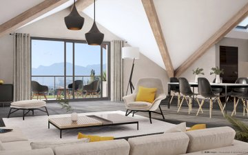 Amancy En Pleine Nature-vue Montagne - immobilier neuf Annecy
