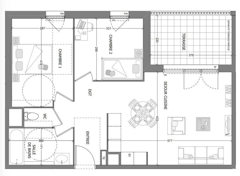 Appartement neuf Aubagne - Appartement T3 57,92 M2 Avec Terrasse