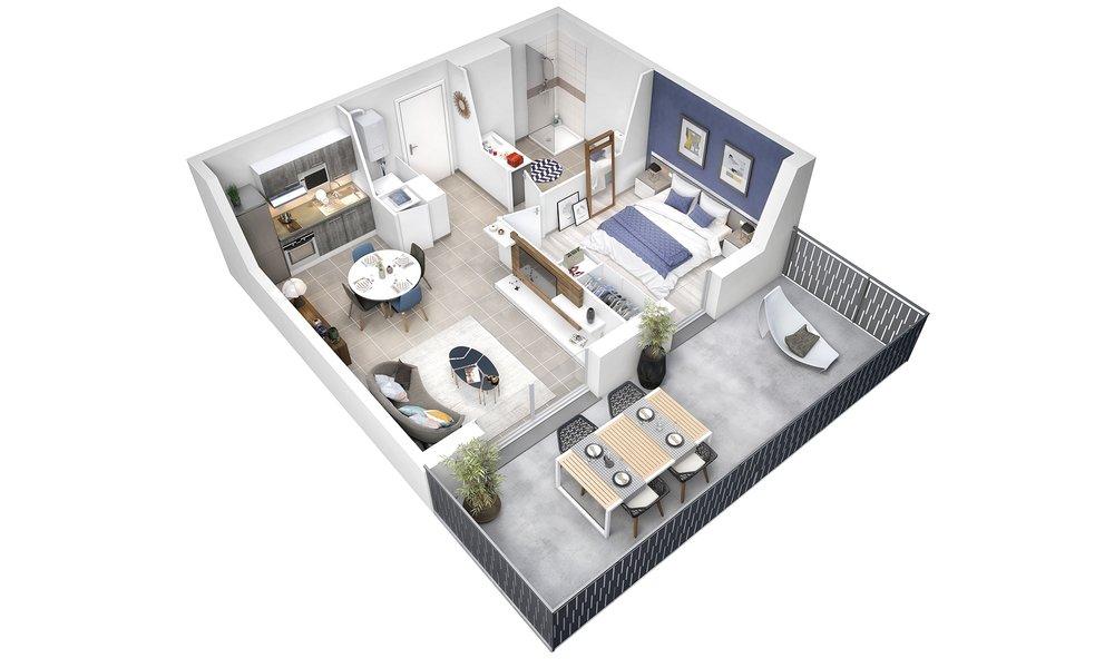 Appartement neuf Saint-nazaire - Résidence Tree-bord