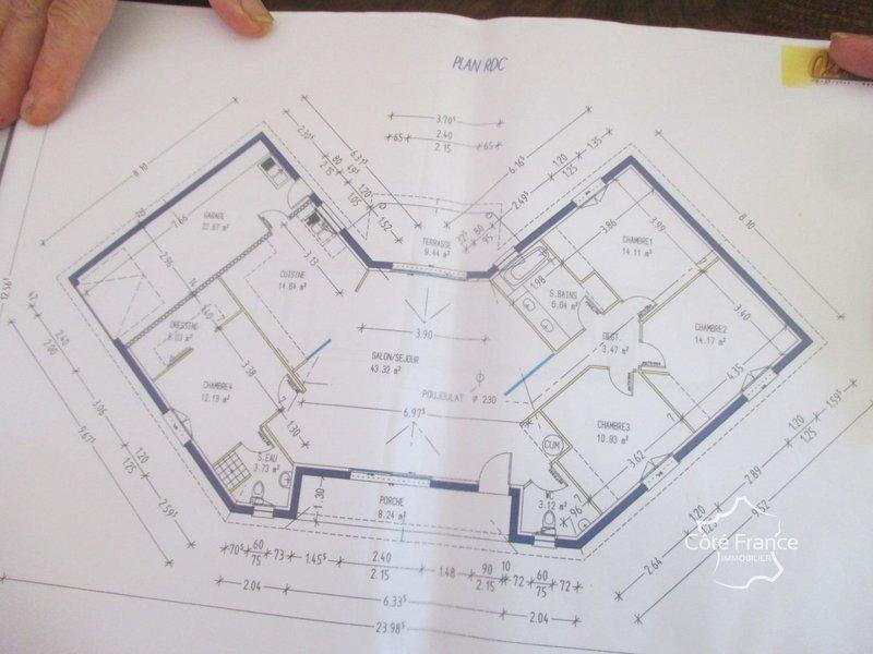 Maison neuve La Chapelle-aubareil - La Chapelle Aubareil Maison Contemporaine De Plain Peid